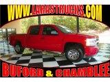 2008 Victory Red Chevrolet Silverado 1500 LS Crew Cab #80383977