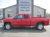 2013 Victory Red Chevrolet Silverado 1500 LT Extended Cab 4x4 #80392041