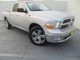 2010 Bright Silver Metallic Dodge Ram 1500 Lone Star Quad Cab #80391793