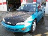 1998 Bright Aqua Metallic Chevrolet Cavalier Sedan #8031986