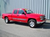 2006 Victory Red Chevrolet Silverado 1500 LT Extended Cab 4x4 #8026121