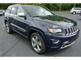 2014 True Blue Pearl Jeep Grand Cherokee Overland #80425664