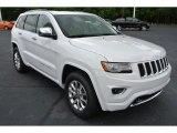 2014 Bright White Jeep Grand Cherokee Overland 4x4 #80425662