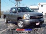 2009 Graystone Metallic Chevrolet Silverado 1500 LT Extended Cab 4x4 #8036154