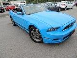2013 Grabber Blue Ford Mustang V6 Premium Convertible #80425539