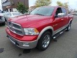 2010 Inferno Red Crystal Pearl Dodge Ram 1500 Laramie Crew Cab 4x4 #80425531