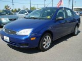 2005 Sonic Blue Metallic Ford Focus ZX4 SE Sedan #8024499