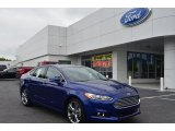 2013 Deep Impact Blue Metallic Ford Fusion Titanium #80425403