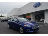 2013 Deep Impact Blue Metallic Ford Fusion SE 1.6 EcoBoost #80425402