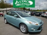 2012 Frosted Glass Metallic Ford Focus SEL Sedan #80425817