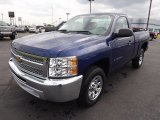 2013 Blue Topaz Metallic Chevrolet Silverado 1500 LS Regular Cab #80480819