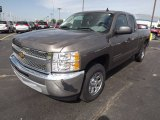 2013 Mocha Steel Metallic Chevrolet Silverado 1500 LS Extended Cab #80480818