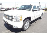 2013 White Diamond Tricoat Chevrolet Silverado 1500 LTZ Crew Cab 4x4 #80480801