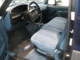 1995 Ford F150 XLT Regular Cab Blue Interior