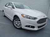 2013 White Platinum Metallic Tri-coat Ford Fusion SE 1.6 EcoBoost #80539040