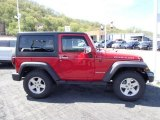 2011 Flame Red Jeep Wrangler Rubicon 4x4 #80538901