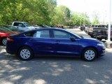 2013 Deep Impact Blue Metallic Ford Fusion S #80538893