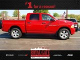 2012 Flame Red Dodge Ram 1500 Express Crew Cab 4x4 #80538780