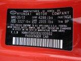 2013 Genesis Coupe Color Code for Tsukuba Red - Color Code: NGA
