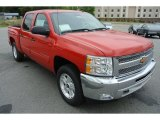 2013 Victory Red Chevrolet Silverado 1500 LT Crew Cab 4x4 #80593374