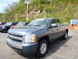 2008 Blue Granite Metallic Chevrolet Silverado 1500 LT Extended Cab 4x4 #80593255