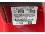 2010 XK Color Code for Claret Red Metallic - Color Code: CHN