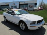 2005 Performance White Ford Mustang V6 Premium Convertible #80593334
