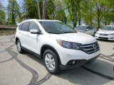 2013 White Diamond Pearl Honda CR-V EX-L AWD #80593438