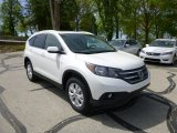 2013 White Diamond Pearl Honda CR-V EX-L AWD #80593437