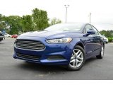 2013 Deep Impact Blue Metallic Ford Fusion SE #80593311