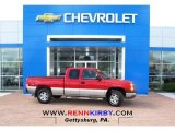 2004 Sport Red Metallic Chevrolet Silverado 1500 LS Extended Cab 4x4 #80651009