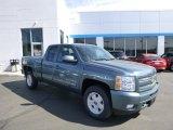 2010 Blue Granite Metallic Chevrolet Silverado 1500 LT Extended Cab 4x4 #80677577