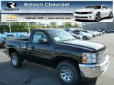 2013 Black Chevrolet Silverado 1500 Work Truck Regular Cab 4x4 #80677925