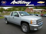2013 Silver Ice Metallic Chevrolet Silverado 1500 LT Extended Cab 4x4 #80723587