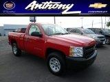 2013 Victory Red Chevrolet Silverado 1500 Work Truck Regular Cab 4x4 #80723584