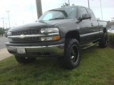 2002 Medium Charcoal Gray Metallic Chevrolet Silverado 1500 LT Extended Cab 4x4 #80723688
