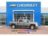 2013 Mocha Steel Metallic Chevrolet Silverado 1500 LT Crew Cab 4x4 #80723344
