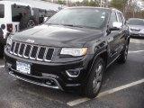 2014 Brilliant Black Crystal Pearl Jeep Grand Cherokee Overland 4x4 #80722856