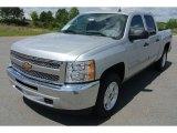 2013 Silver Ice Metallic Chevrolet Silverado 1500 LT Crew Cab #80723425