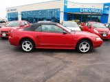 2000 Laser Red Metallic Ford Mustang GT Convertible #80722948