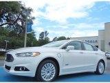 2013 White Platinum Metallic Tri-coat Ford Fusion Energi Titanium #80785123