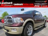 2012 Deep Molten Red Pearl Dodge Ram 1500 Laramie Longhorn Crew Cab #80785225