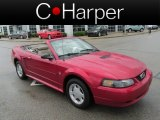 2001 Performance Red Ford Mustang V6 Convertible #80784890