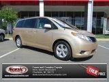 2012 Sandy Beach Metallic Toyota Sienna LE #80785435