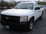 2008 Summit White Chevrolet Silverado 1500 Work Truck Regular Cab #80784876