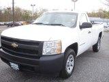 2008 Summit White Chevrolet Silverado 1500 Work Truck Regular Cab #80784873