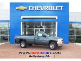 2013 Blue Granite Metallic Chevrolet Silverado 1500 Work Truck Regular Cab 4x4 #80785423