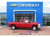 2013 Victory Red Chevrolet Silverado 1500 LT Extended Cab 4x4 #80785419