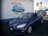2012 Sonic Blue Metallic Ford Focus SE 5-Door #80785073