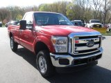 2012 Vermillion Red Ford F250 Super Duty XLT Regular Cab 4x4 #80785615